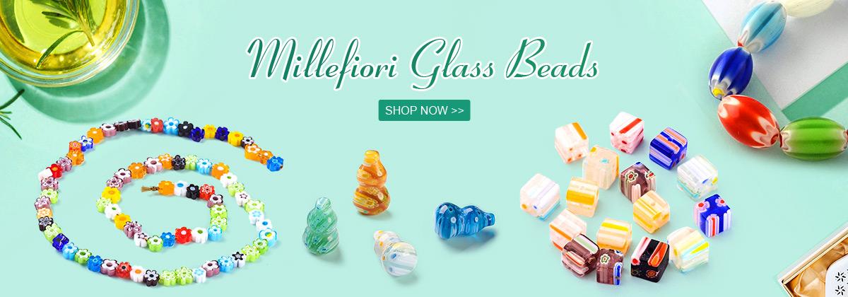 Millefiori Glass Beads SHOP NOW