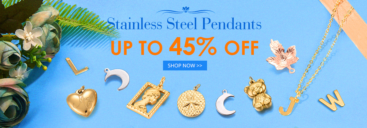 Stainless Steel Pendants  Up to 45% OFF